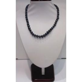 náhrdelník- čierne riečne perly
