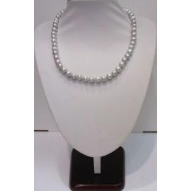 náhrdelník riečne perly strieborné