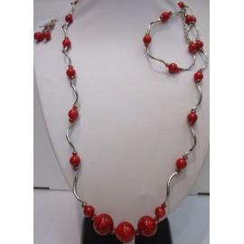 sada,náhrdelník,náušnice a náramok z krveľa