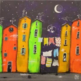 Obraz - Akryl na plátne - Nočné prádlo- Silvia Sochuláková