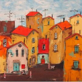 Obraz - Akryl na plátne - Pošta - Silvia Sochuláková