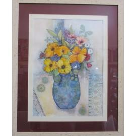 Obraz - Zátišie so žltými kvetmi - Martina Štecová