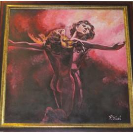 Obraz - Olejomaľba- Tanec vášne -Treciak Peter
