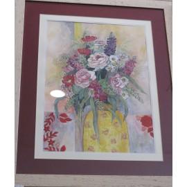 Obraz - Zátišie s kvietkovanou vázou - Martina Štecová