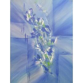 Obraz - Akryl -Kvety v modrom- A. Gledurová