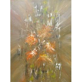 Obraz - Akryl -Kvety v oranžovom- A. Gledurová