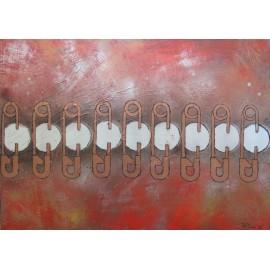 Obraz - Akryl - Safety pins - Lukas Polyak