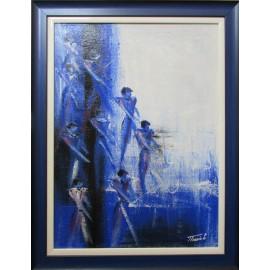 Obraz - Akryl- Abstrakt modrý -Treciak Peter