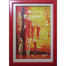 Obraz - Akryl- Abstrakt červený-Treciak Peter