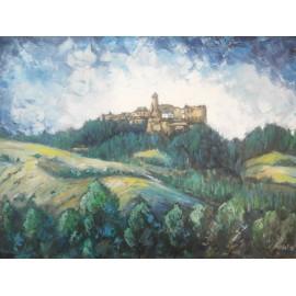 Obraz - Olejomaľba - Ľubovniansky hrad - Viliam Volk