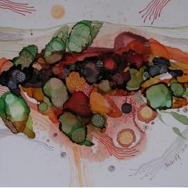 Obraz - Keď krajina farbami dýcha IV - Martina Štecová