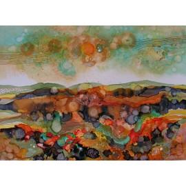 Obraz - Keď krajina farbami dýcha III - Martina Štecová