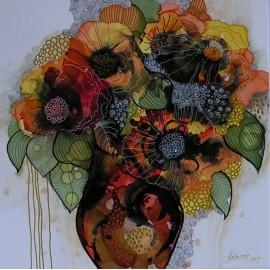 Obraz - Zátišie v jesenných farbách- Martina Štecová