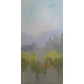 Obraz - Olejomaľba - Krajina s červenými makmi - Jozef Onduš
