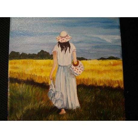 Obraz - Dievča v klobúku