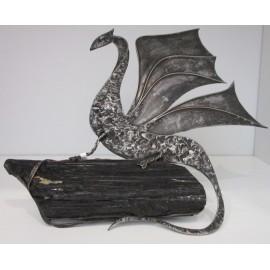 Helena Ferleťáková -kovaná dekorácia- drak č.3