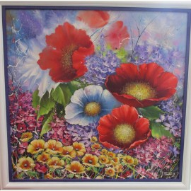 Obraz - Olejomaľba- Kvety 1- Treciak Peter