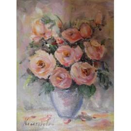 Obraz - Akryl na plátne - Kytička malá - ruže - Ester Ksenzsighová
