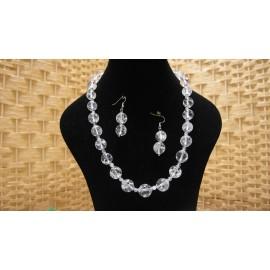Kryštál-náhrdelník a náušnice