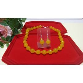 Jadeit-náhrdelník a náušnice