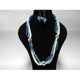 Apatit-opalit-náhrdelník a náušnice