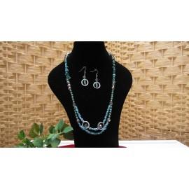 Tyrkys-náhrdelník a náušnice