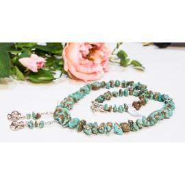 Tyrkys - náhrdelník a náušnice