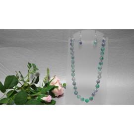 Kunzit-multicolor-náhrdelník a náušnice