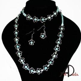 Amazonit-náhrdelník-náramok-náušnice