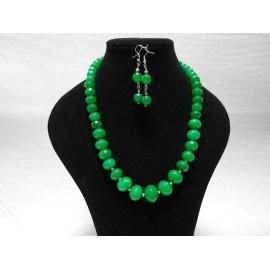Jadeit-zelený-náhrdelník a náušnice
