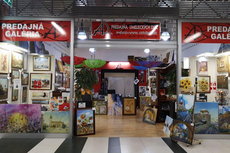 Predajná galéria ARTdiela OC Max Prešov